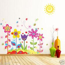 Removable Flower Butterfly Wall Sticker Vinyl Art Mural DIY Kids Room Home Decor
