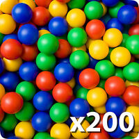 Plastic Balls  x 200 Ball Pits Childrens Kids Multi-Coloured Toys Play Pool