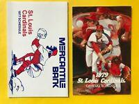 1977 St Louis Cardinals Vintage Baseball LOT set schedule Busch beer card 1979