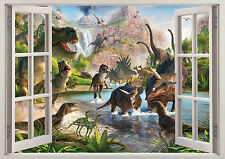 Dinosaurs Animals Window Wall Sticker 3d View Poster Vinyl Bedroom Mural Art  94 6fcd789dec
