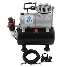 Ophir New Portable Mini Air Compressor with Tank for Hobby Cake Decoration 110V