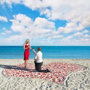 100 pieces of artificial rose petals wedding supplies romantic US F4I3