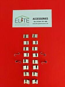 GENUINE Elite x 20 Greenhouse Preformed Overlap Clips. Rust Free,Stainless Steel