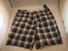 Nuevo Abercrombie And Fitch Azul Cuadros Pantalón Corto Talla 28 Hombre