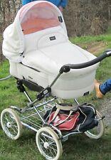 Emmaljunga Leatherette weiß / rosa Kombi Kinderwagen & Sportwagen