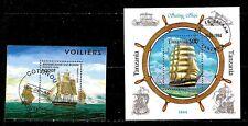 ZY496 TANZANIE/BENIN blocs : voiliers d'opium et voiliers 3 mats