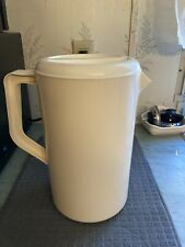 Vintage 1 Gallon Rubbermaid Ivory Beige Slotted Lid Strain 2718 Pitcher