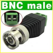8 PCS BNC BLACK N GREEN CONNECTOR / CCTV DVR VIDEO CAMERA BNC PLUG CONNECTOR