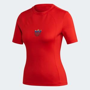 Adidas Women's Adicolor Tee Shirt, Scarlet
