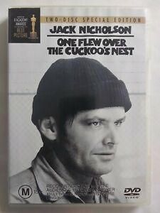 ONE FLEW OVER THE CUCKOO'S NEST 1975 DVD (2-Disc Set) Jack Nicholson FREE POST