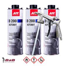 3 x 1 L APP B 200 Autobit Bitumen Unterbodenschutz mit UBS Pistole Rostschutz