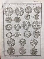 España Monedas Oro 1725 España Numismática Gabinetes de La Real Francia