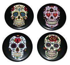 Sugar Skull Fridge Magnets Set 55mm 4pc Day of the Dead Calavera