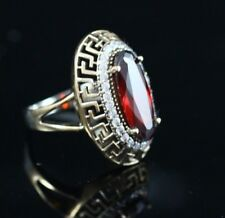 Turkish Handmade Sterling Silver 925 Ruby Ring Ladies 6 7 8 9 10