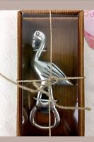 Outdoor Collection Flamingo Bottle Opener Silver Tone Bar Ware - New In Box