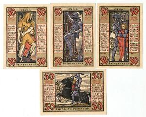 SET OF 8 GERMANY NOTGELD 50 PFENNIG STADT-ALTENBURG 1921