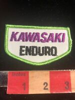 "NOS Embroidered Cloth Dirt Bike KAWASAKI ENDURO Motorcycle Patch 3.25+""x2"" 00SI"