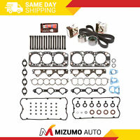 Head Gasket Set Timing Belt Kit Fit 94-96 Mitsubishi Montero 3.5 DOHC 6G74