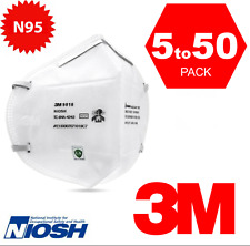 3M 9010 N95 NIOSH Protective Disposable Face Mask CDC Approved Respirator 5-50pc