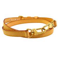 LOUIS VUITTON Logos Shoulder Strap Brown Leather  Handbag Accessories 31032