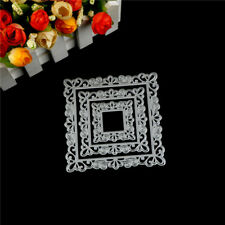 New listing 3Pcs Picture Frame Metal Cutting Die For Diy Scrapbooking Album Paper CardBlte