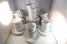 Crown Victoria Fine China Japan Carolyn Set of 15 Cups & 15 Saucers