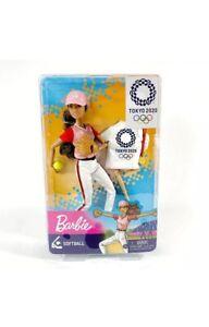BARBIE OLYMPIC Games Tokyo 2020 SOFTBALL Doll - NEW IN BOX!! Brunette