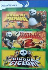 DVD KUNG FU PANDA 1 e 2 + I SEGRETI DEI CINQUE CICLONI NUOVO SIGILLATO DREAMWORK