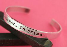 Partners in Crime Custom Personalized Hand Stamped Cuff Bracelet