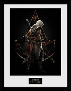 Assassins Creed Origins Assassin Framed Collector Print Gaming 30x40cm | 12x16