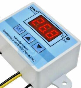 Termostato Digitale 12V sonda NTC esterna da -50° a +100°C W3002 NUOVO MODELLO