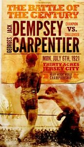 JACK DEMPSEY GEO CARPENTIER 8X10 PHOTO BOXING POSTER PICTURE WIDE WHITE BORDER