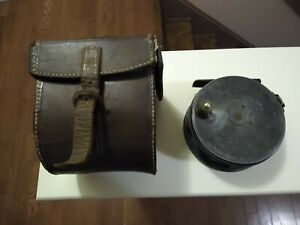 "1905 check 4"" Charles Farlow Salmon Fly Reel with D block case"