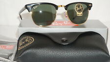 Ray Ban New Sunglasses Clubmaster Black Green Classic G-15 RB3016 W0365 49 140