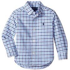 Ralph Lauren Kinder Jungen Oxfort Shirt langarm Hemd blau kariert Polo Reiter M