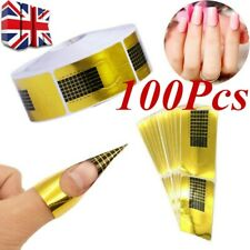 100X Nail Art Form Stickers Self adhesive Extension UV Builder Tips Gel Forms A