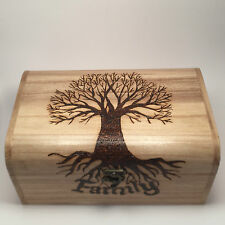 Jewellery Box Keepsake Memory Box Family Tree Design Personalised Large Chest