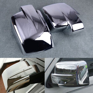 2PCS Chrome Door Side Mirror Covers Trim Cap Fit for Jeep Patriot Liberty ABS