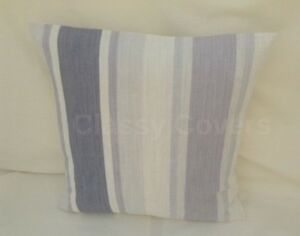 Laura Ashley Designer Cushion Cover AWNING STRIPE Pale Iris Fabric Various Sizes