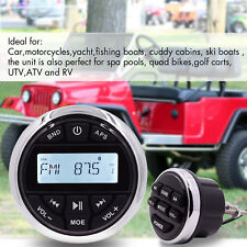 Waterproof Marine Audio Gauge Radio Unit Bluetooth Stereo Boat Yacht Car ATV