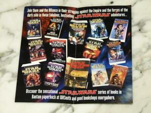 Rare 1996 STAR WARS Bantam Books FLYER Advert PAPERBACK Vintage RETRO Lucasfilm
