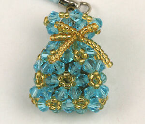 Assorted Color Crystal Lucky Bag Cell Phone Bags Charms Strap NEW