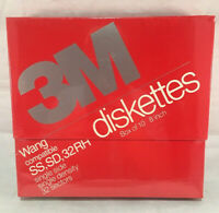 "3M 8"" Wang Compatible Floppy Disks Diskettes SS SD 32 RH DC 051111 10 Pack"