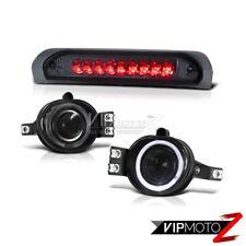 Dodge RAM 02-08 1500/2500/3500 Smoke Halo Projector Fog Lamp+LED 3rd Brake Light