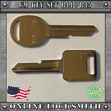Keys Set B44 Ignition E + B45 Doors Trunk H Key Buick Cadillac Chevrolet Pontiac