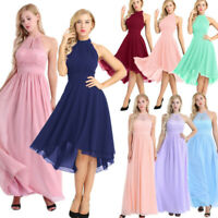 Womens Elegant Formal Wedding Bridesmaid Long Evening Party Ball Prom Gown Dress