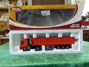 Joal Merc Actros Truck. SCARCE, 3 Axle Dumper Trailer, 1:50 scale. Mint, boxed