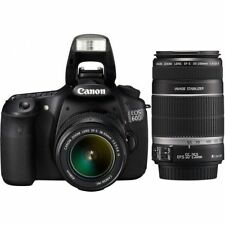 Near Mint! Canon EOS 60D with EF-S 18-55mm IS and 55-250mm IS - 1 year warranty