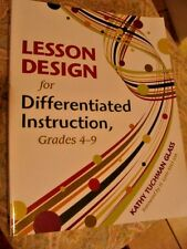 """LESSON DESIGN for Differentiated Instruction""  4th-9th Grade Education"