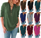 Women Blouse chiffon Long Sleeve Shirt V Neck Loose Casual Tops Shirt plus size